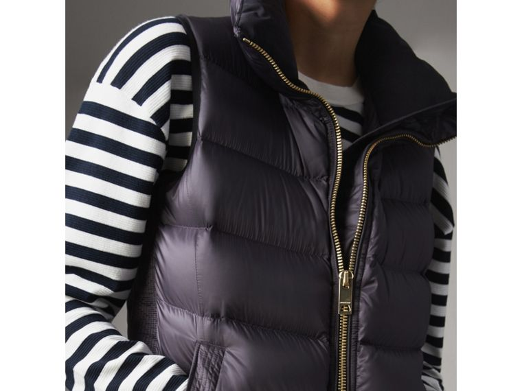 Down-filled Gilet in Blue Black - Women | Burberry - cell image 1