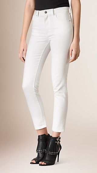 Jean slim 7/8 en denim japonais