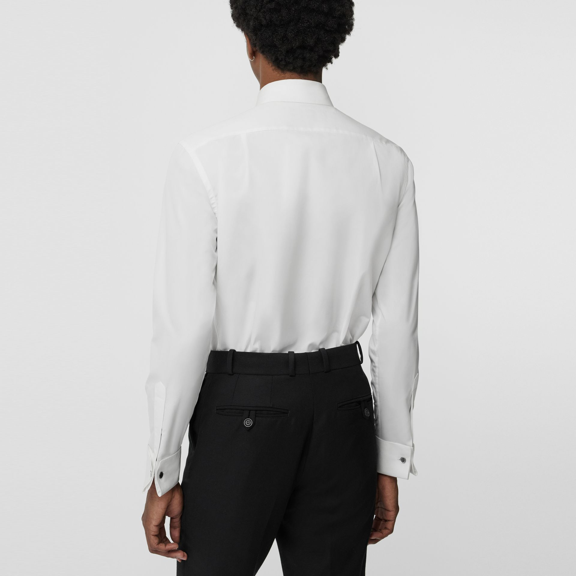 Classic Fit Cotton Poplin Dress Shirt in White - Men | Burberry - gallery image 2