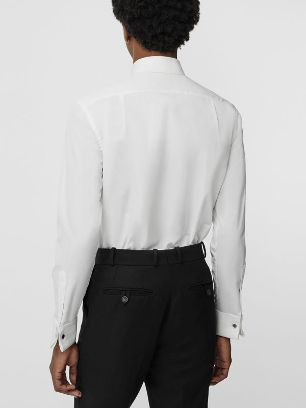 Classic Fit Cotton Poplin Dress Shirt in White - Men | Burberry Singapore - cell image 2