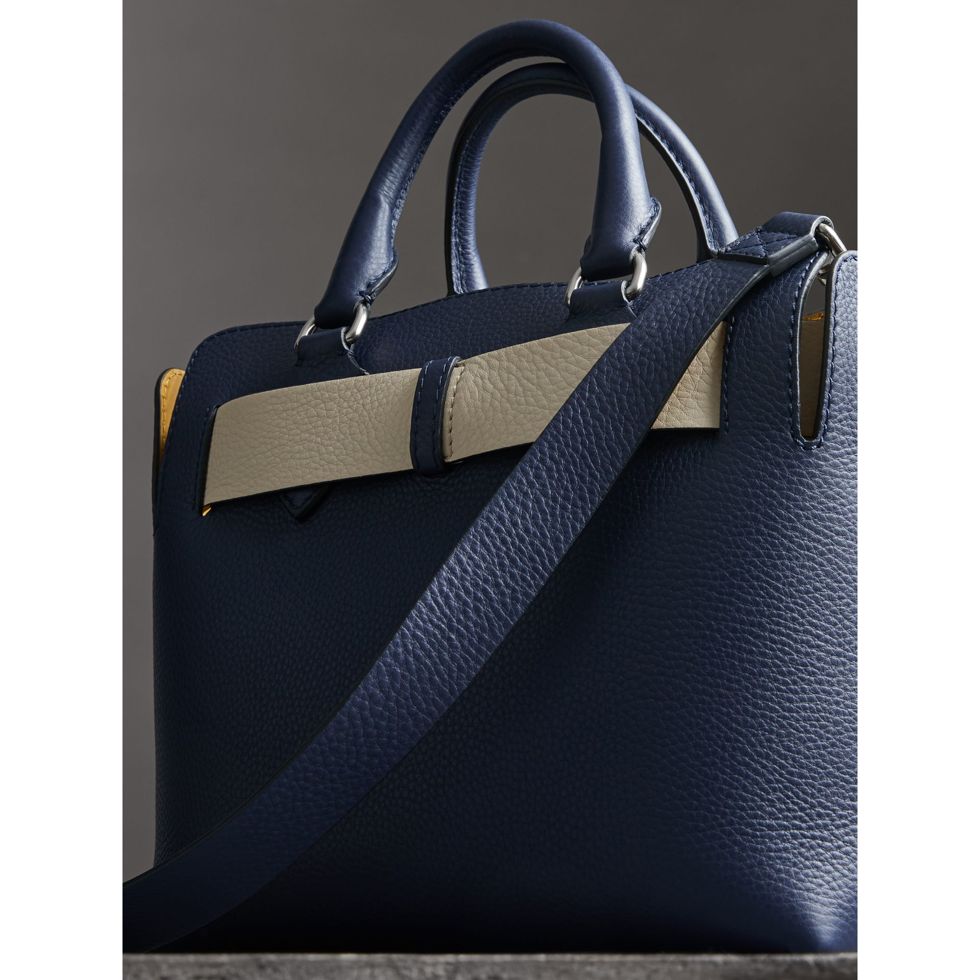 The Small Leather Belt Bag in Regency Blue - Women | Burberry - gallery image 4