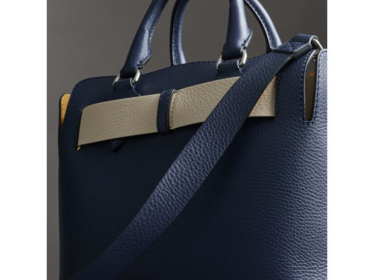 The Small Leather Belt Bag in Regency Blue - Women | Burberry - cell image 4