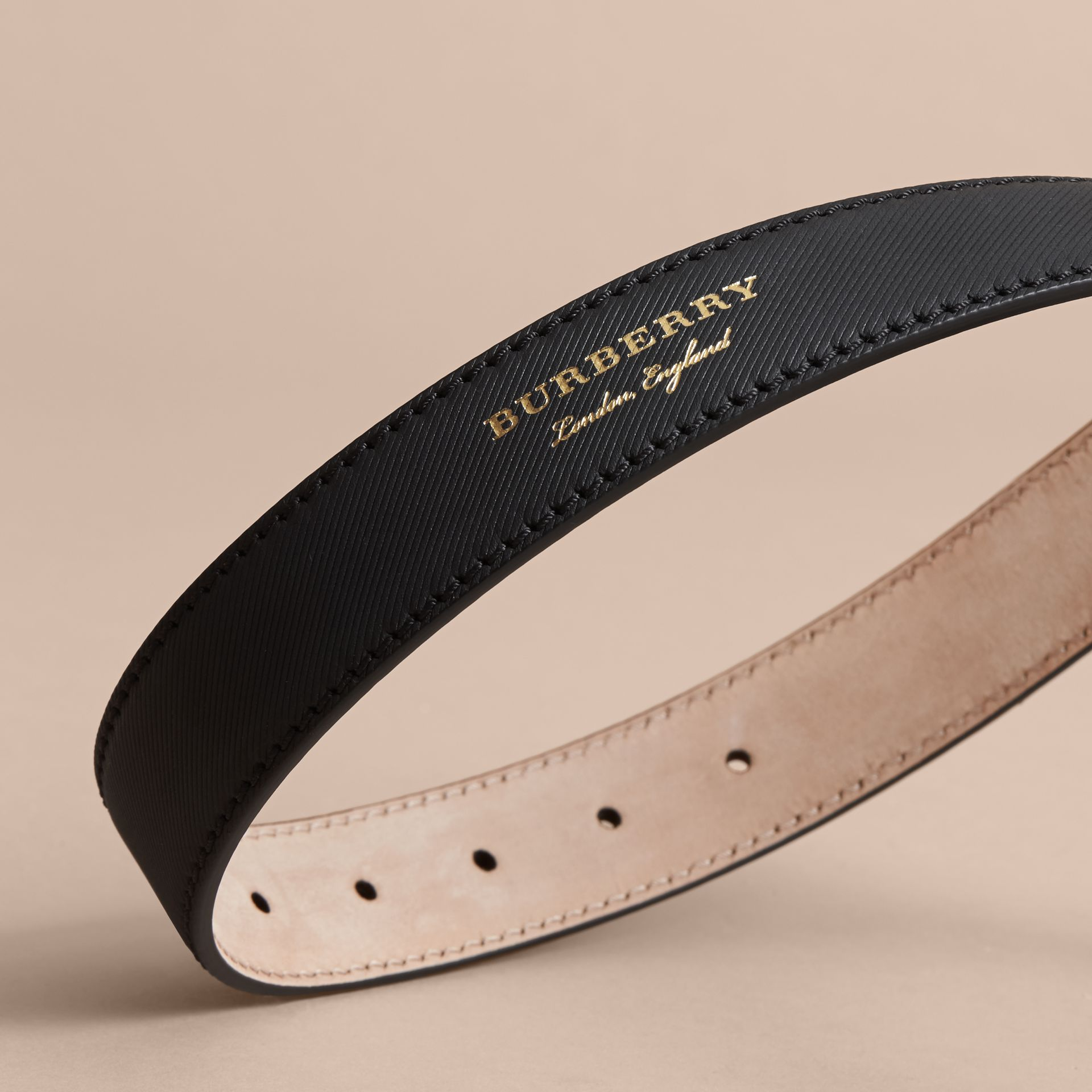 Trench Leather Belt in Black - Women | Burberry - gallery image 4