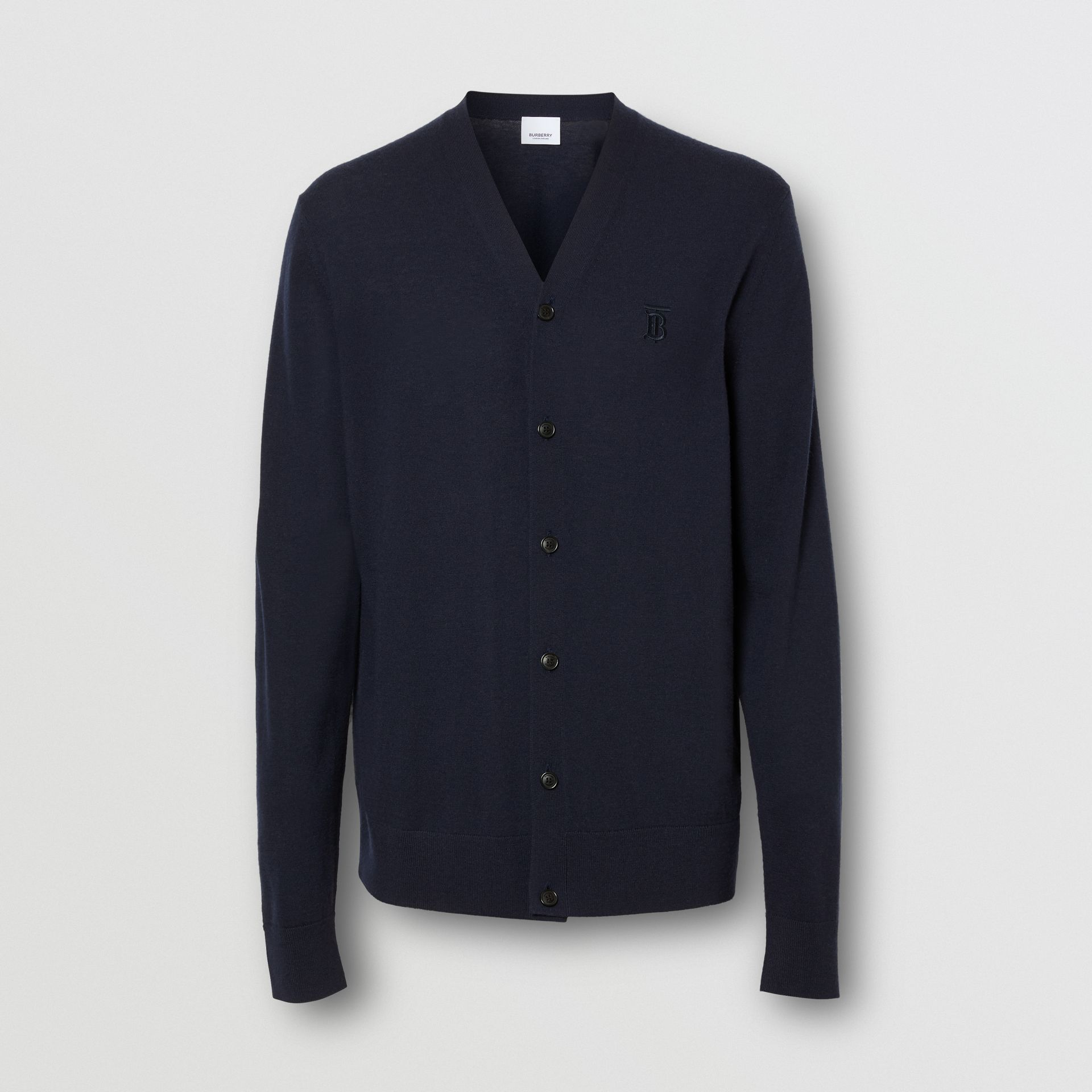 Monogram Motif Cashmere Cardigan in Navy - Men | Burberry - gallery image 3