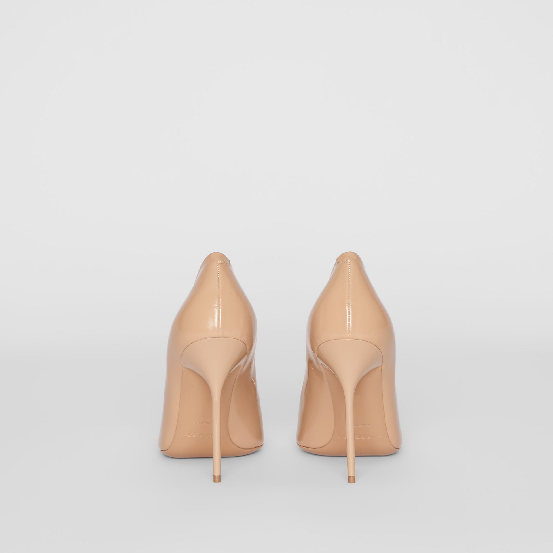 The Leather D-ring Stiletto in Nude Blush - Women | Burberry Canada - gallery image 4