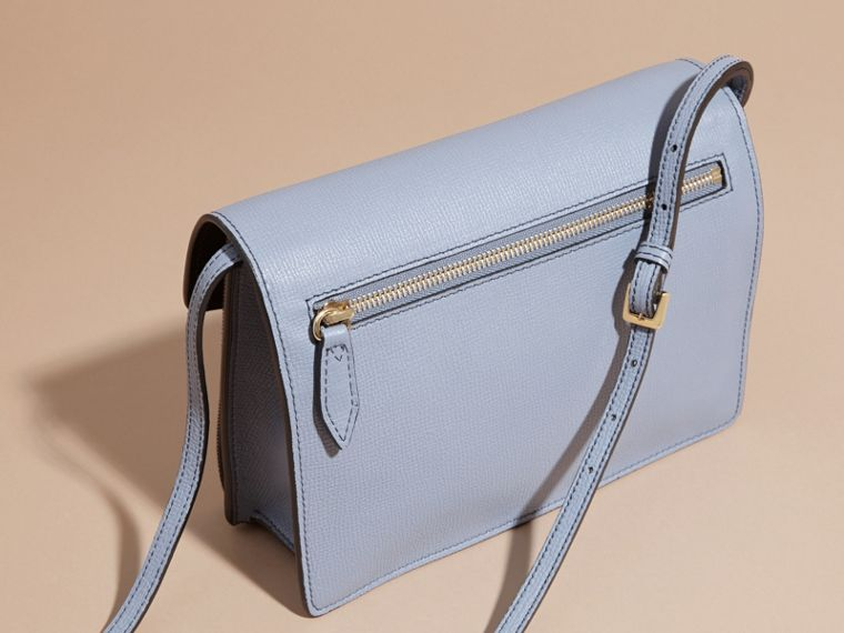 Small Leather and House Check Crossbody Bag in Slate Blue - cell image 4