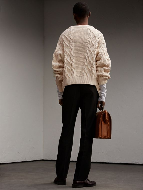Cotton, Wool and Cashmere Blend Sculptural Sweater - Men | Burberry - cell image 2
