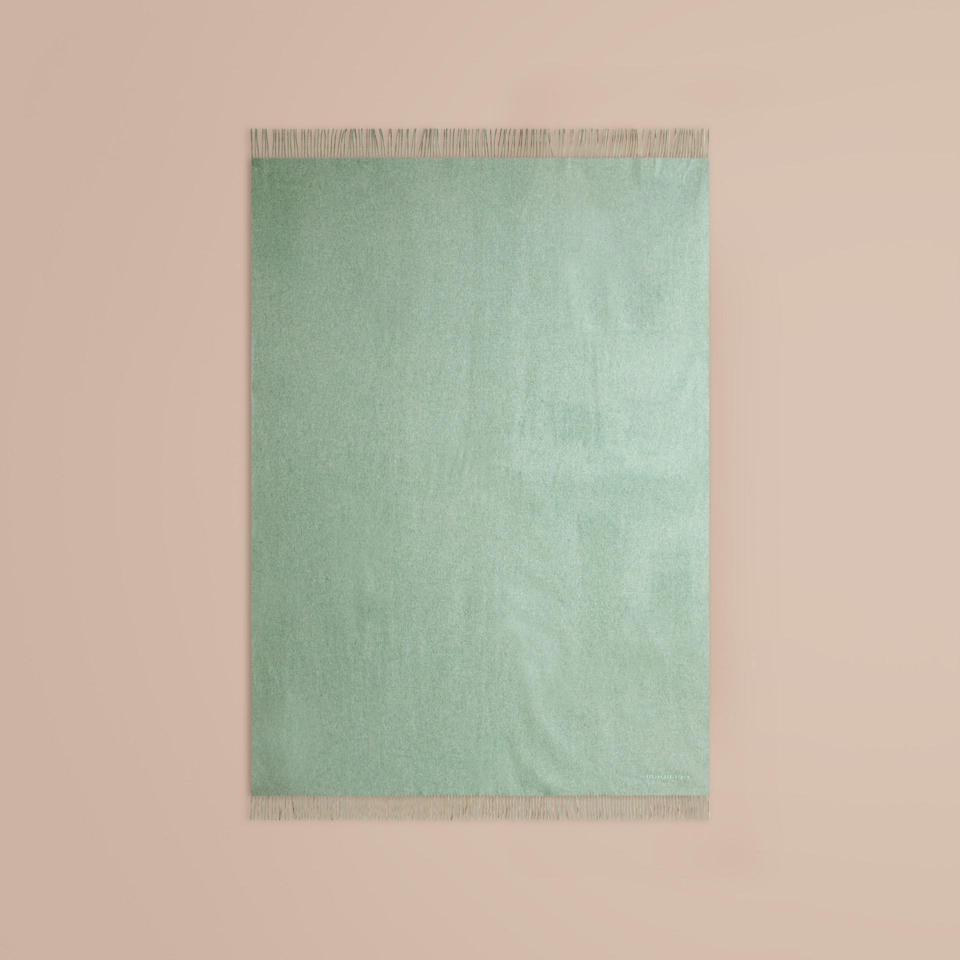 Dusty mint Cashmere Blanket Dusty Mint - gallery image 3
