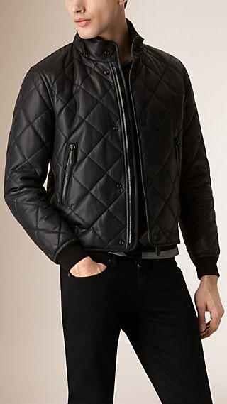 Quilted Leather Blouson