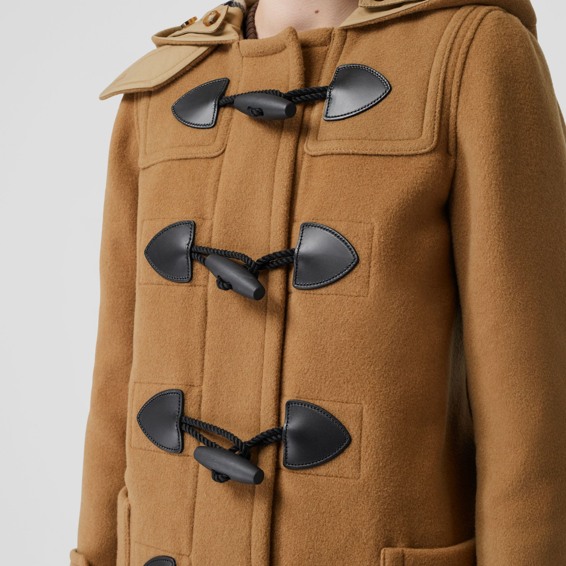 Wool Blend Duffle Coat in Mid Camel - Women | Burberry Singapore - gallery image 6