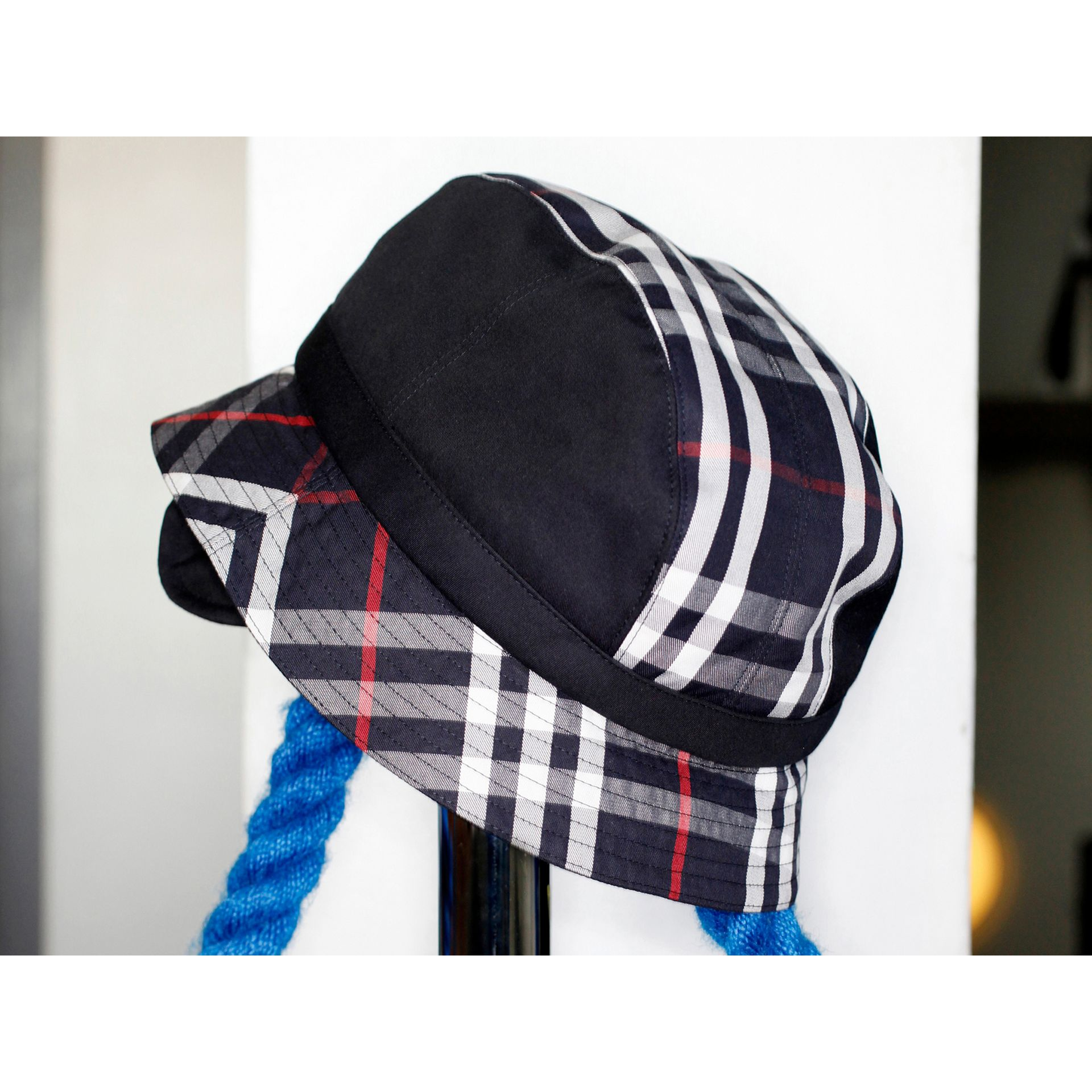 Gosha x Burberry Bucket Hat in Navy | Burberry United Kingdom - gallery image 4