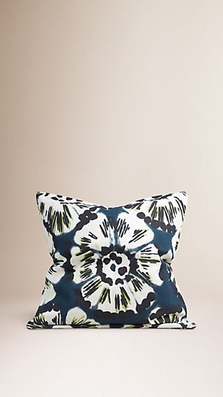 Floral Tie-dye Cotton Cushion Cover