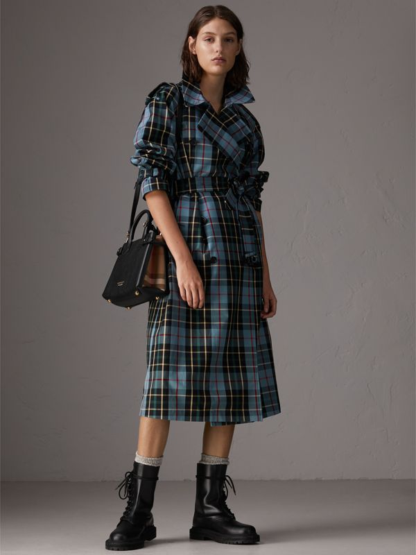 The Small Banner aus Leder und House Check-Gewebe (Schwarz) - Damen | Burberry - cell image 2