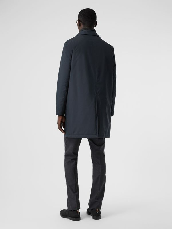 Down-filled Car Coat with Detachable Warmer in Navy - Men | Burberry - cell image 2