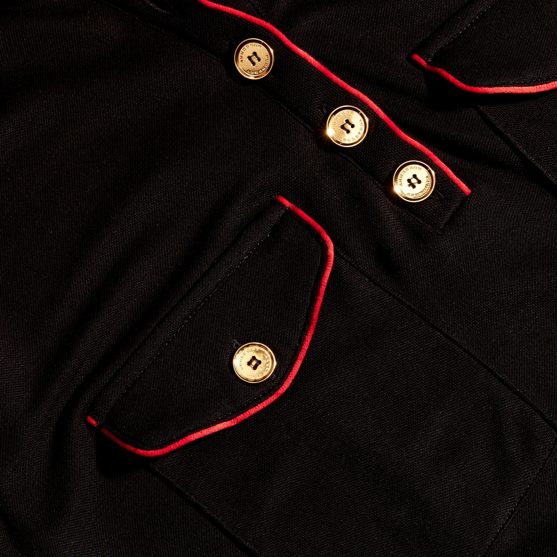 Black Military Shirt Dress - gallery image 2