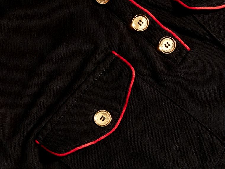 Noir Robe chemise militaire - cell image 1
