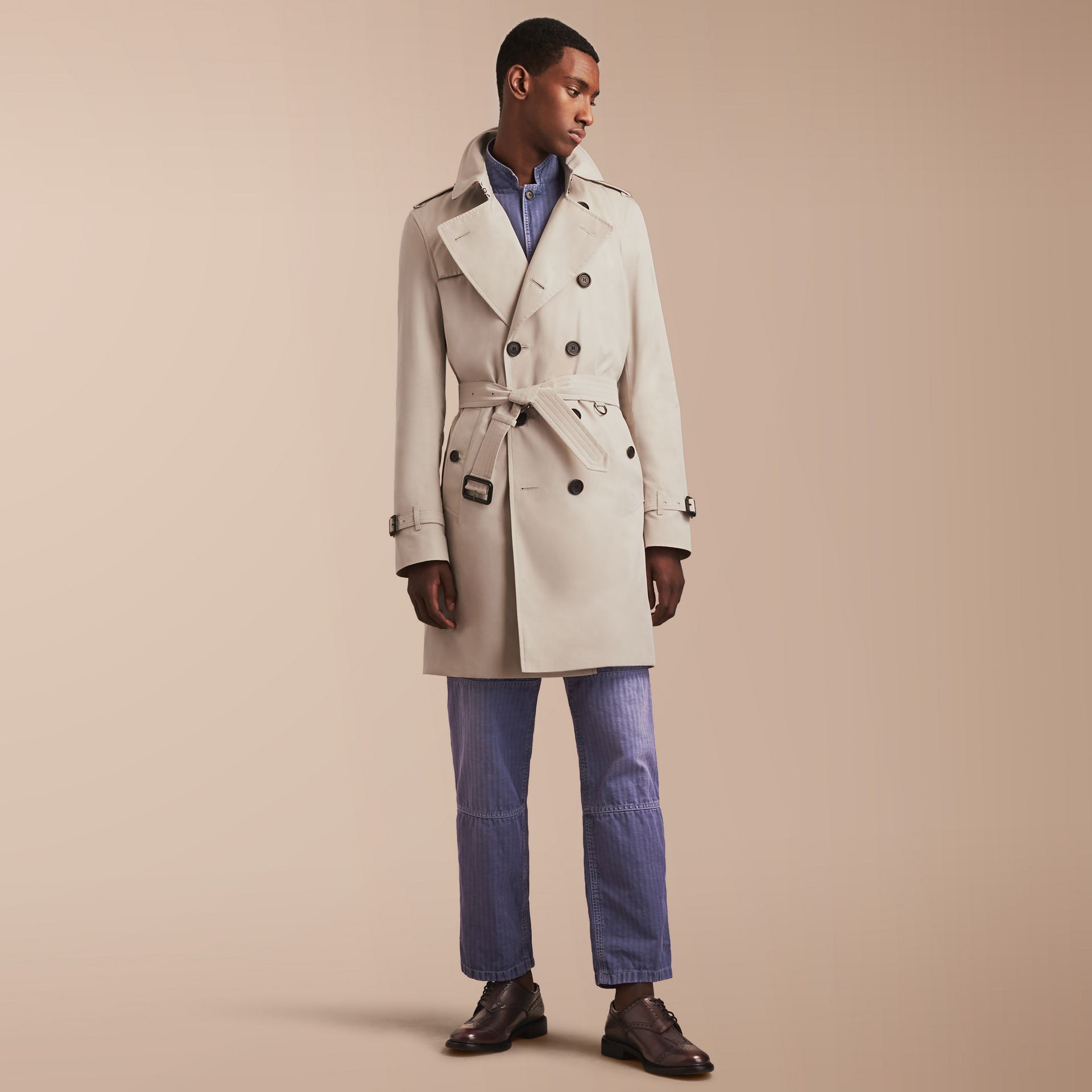 The Kensington – Long Heritage Trench Coat in Stone - gallery image 7