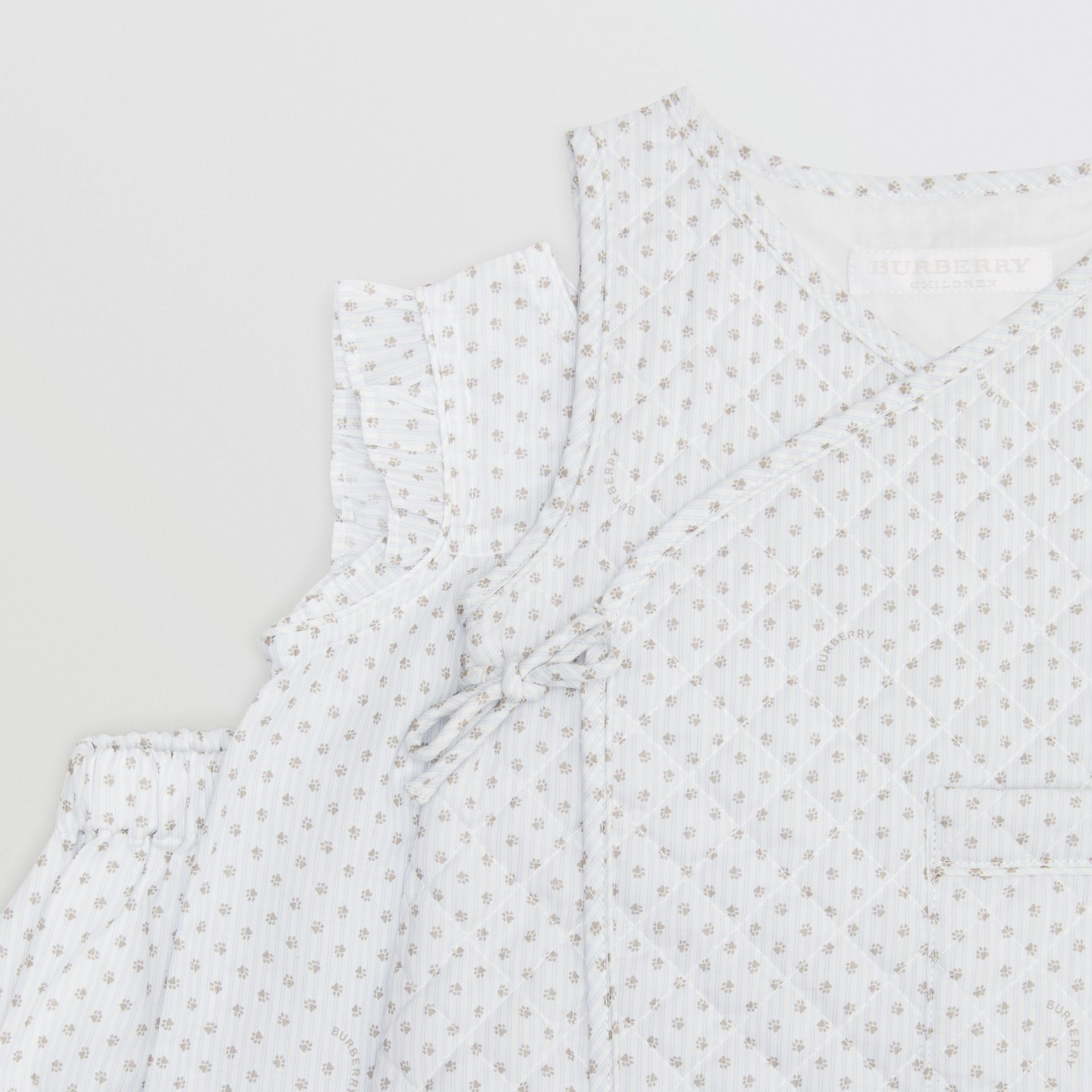 Polka Dot Cotton Three-piece Baby Gift Set in Natural White - Children | Burberry - gallery image 1