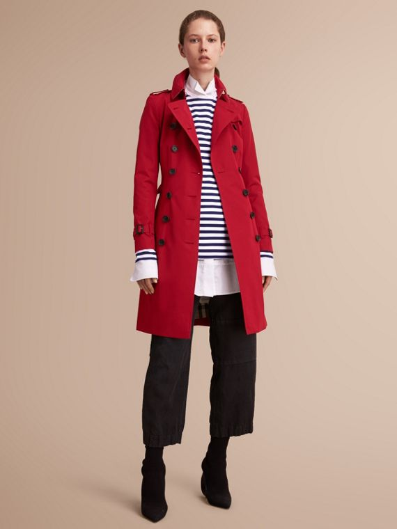 The Chelsea – Long Heritage Trench Coat Parade Red