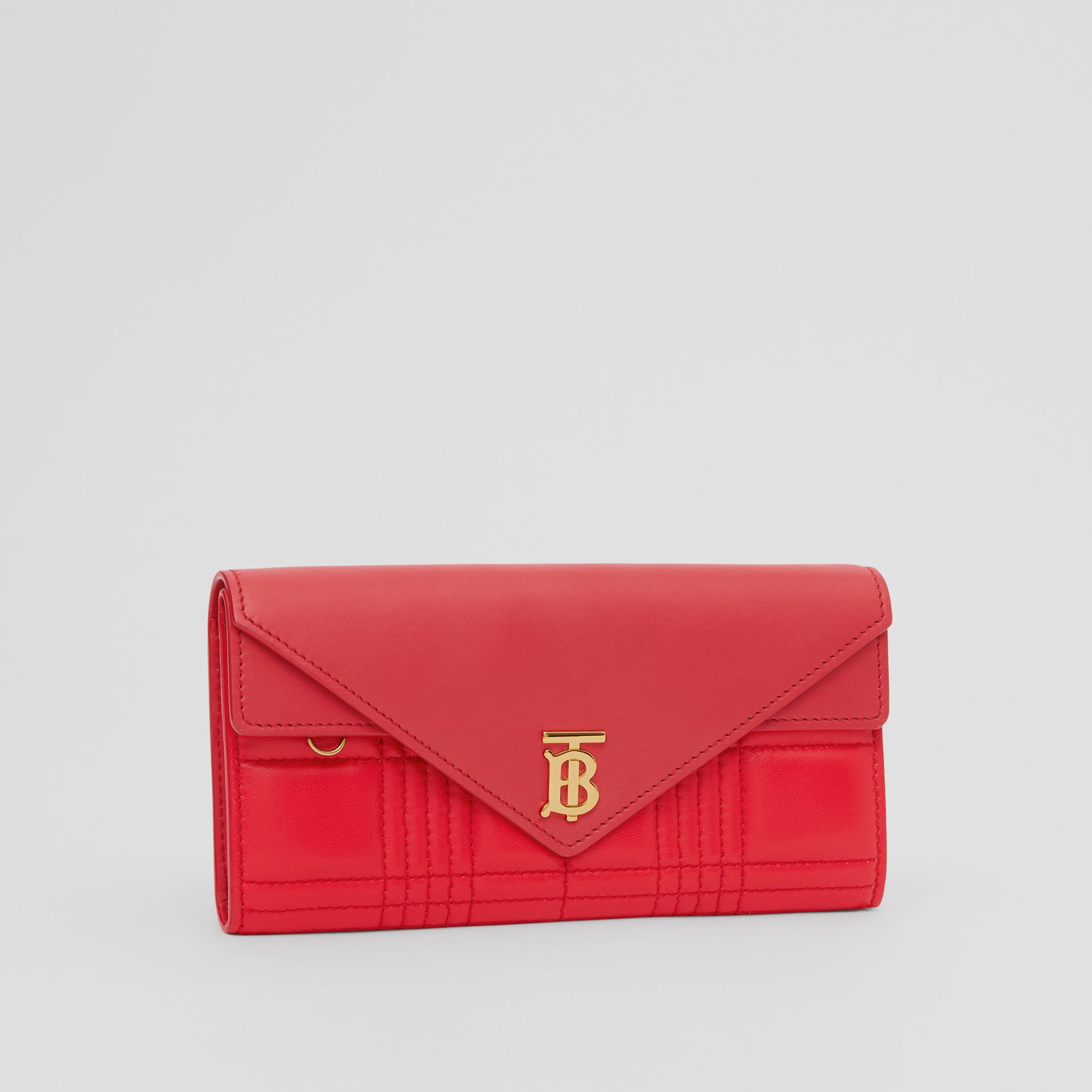 Monogram Motif Quilted Continental Wallet in Bright Red - Women | Burberry - gallery image 3