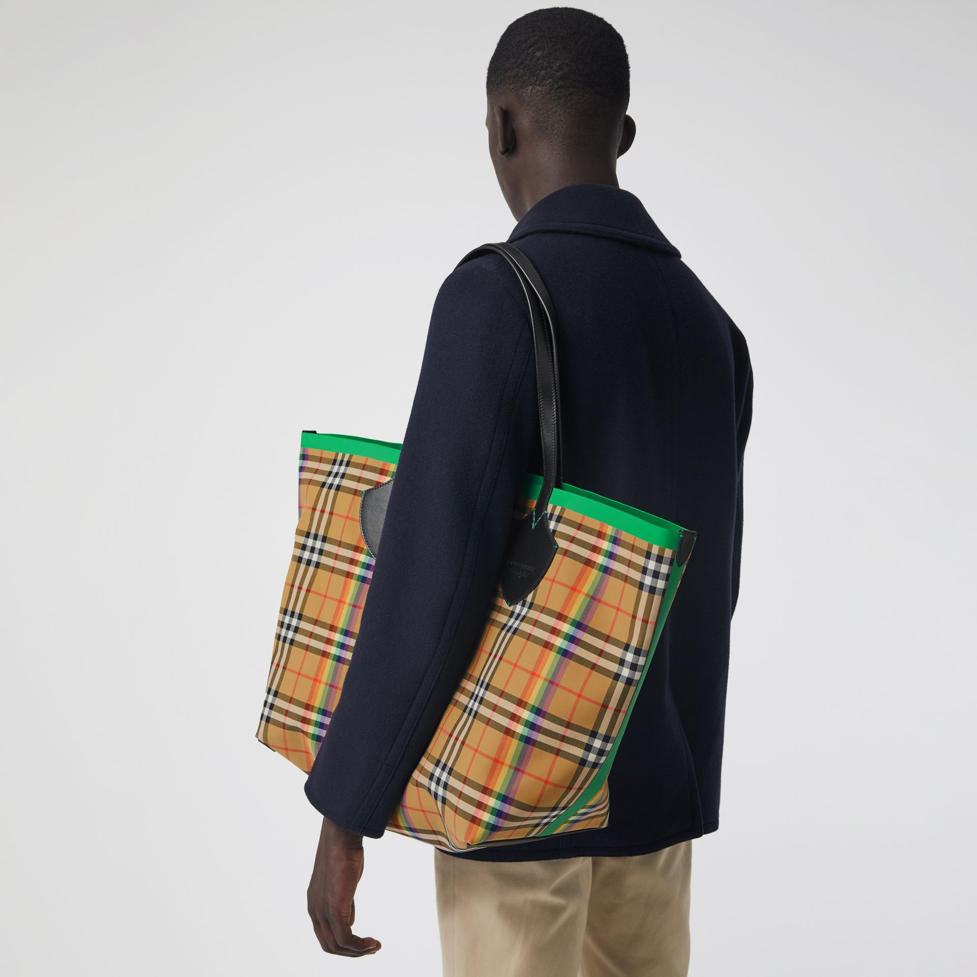 The Giant Tote mit Rainbow Vintage Check-Muster (Antikgelb) | Burberry - Galerie-Bild 5