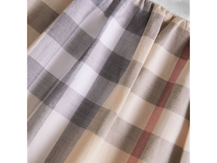 Cotton Check Dress in Pale Stone | Burberry - cell image 1