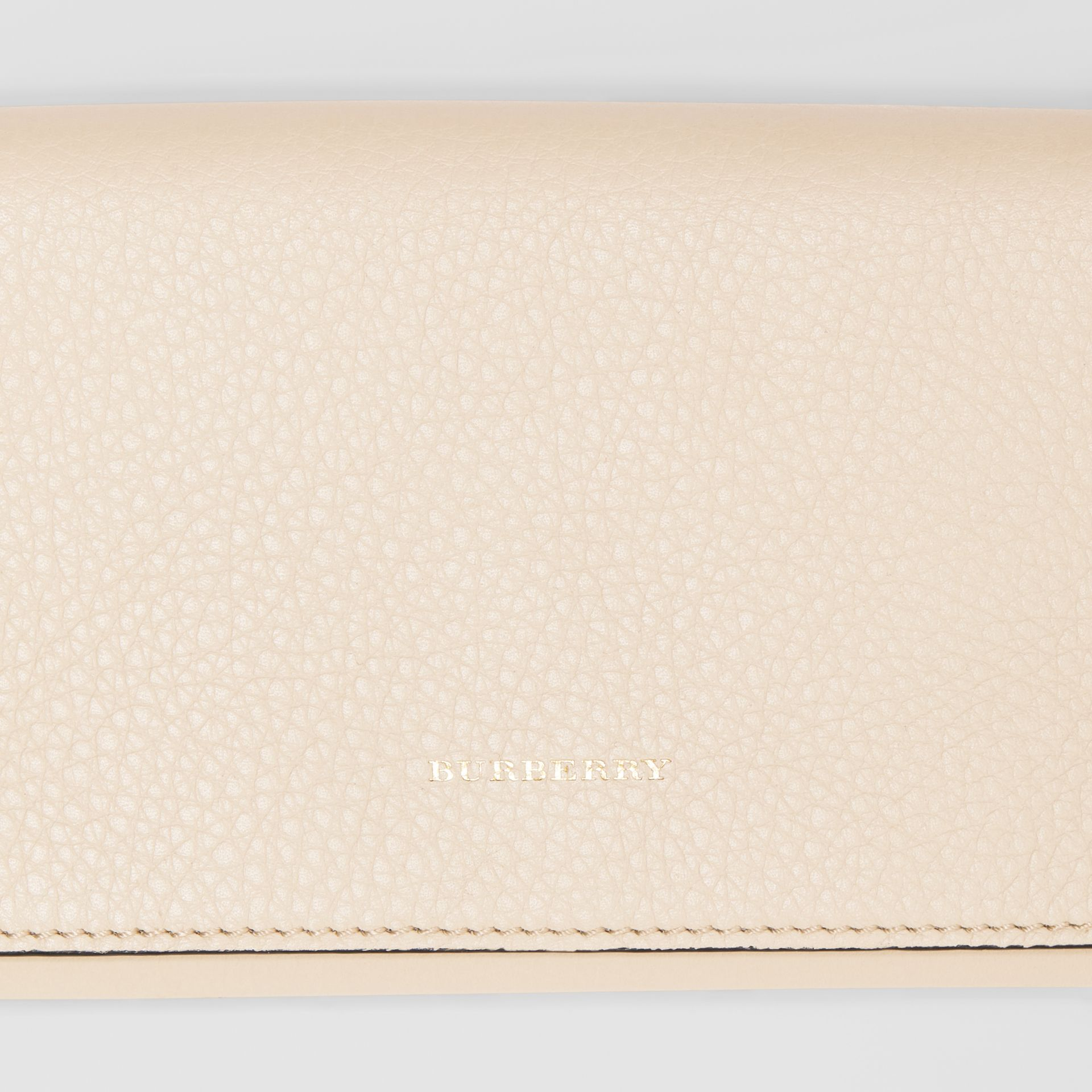 Two-tone Leather Continental Wallet in Limestone - Women | Burberry United Kingdom - gallery image 1