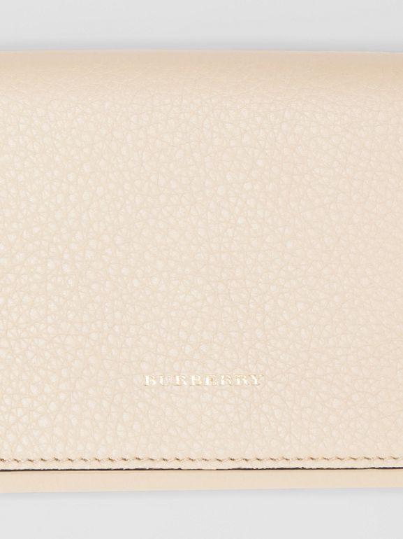 Two-tone Leather Continental Wallet in Limestone - Women | Burberry United Kingdom - cell image 1