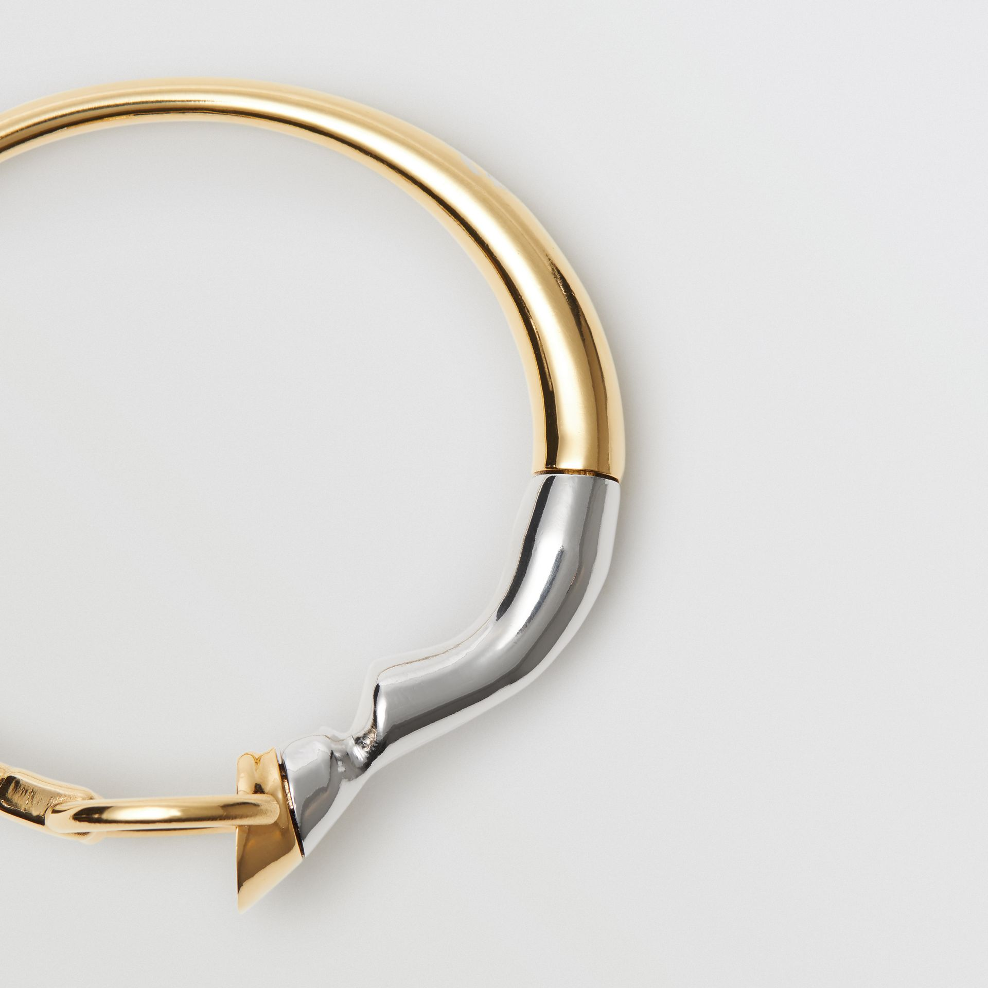 Gold and Palladium-plated Hoof and Hoop Bracelet in Light Gold/palladium - Women | Burberry Hong Kong - gallery image 2