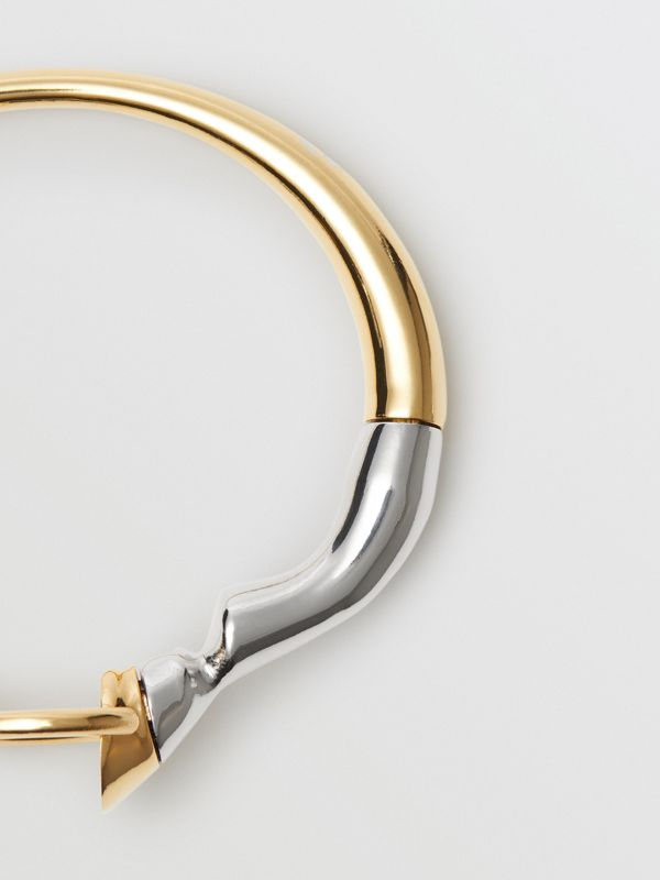 Gold and Palladium-plated Hoof and Hoop Bracelet in Light Gold/palladium - Women | Burberry - cell image 2