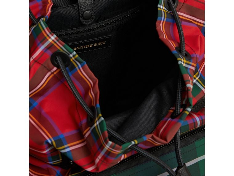 The Large Rucksack in Patchwork Tartan in Military Red | Burberry United Kingdom - cell image 4