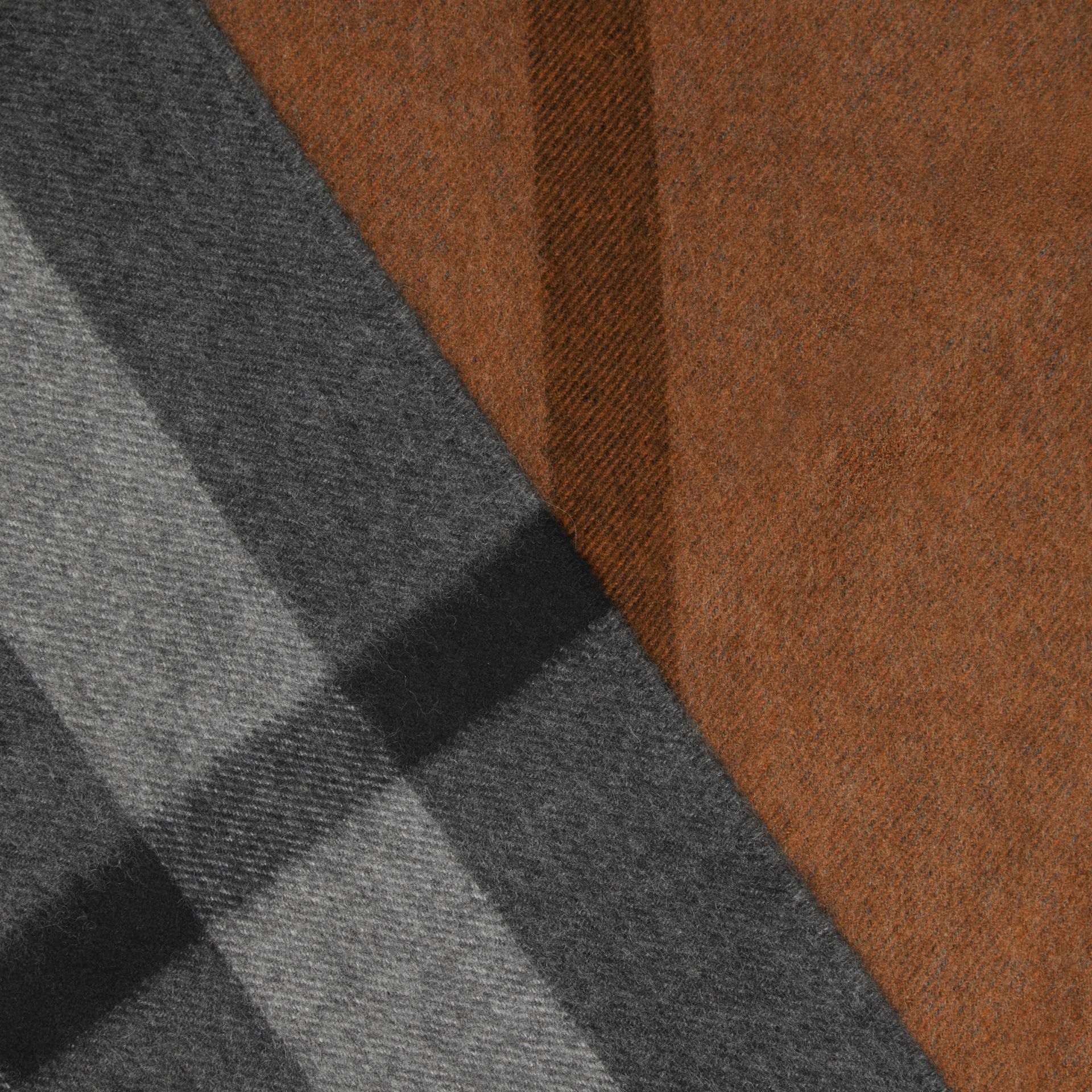 Colour Block Check Cashmere Scarf in Toffee | Burberry Canada - gallery image 1