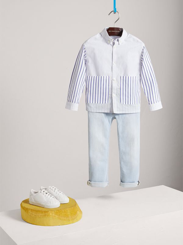 Skinny Fit Stretch Jeans in Light Blue - Boy | Burberry Australia - cell image 2