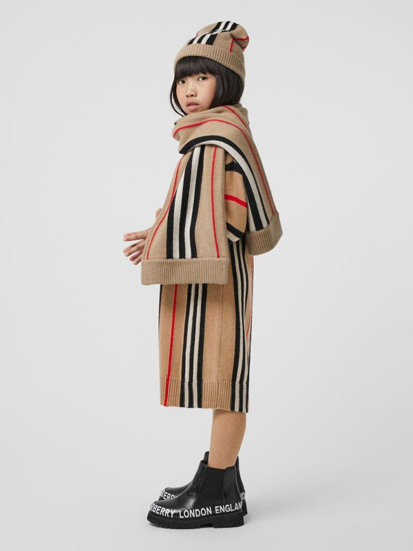 Icon Stripe Wool Cashmere Jacquard Sweater Dress in Archive Beige | Burberry Hong Kong S.A.R - cell image 2
