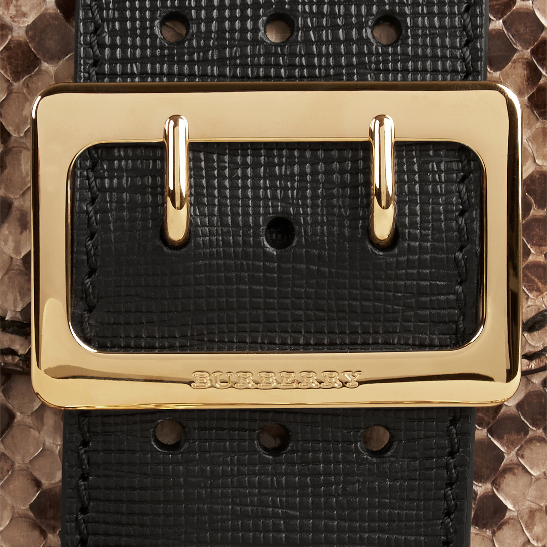 The Small Square Buckle Bag in Python Limited Edition - gallery image 2