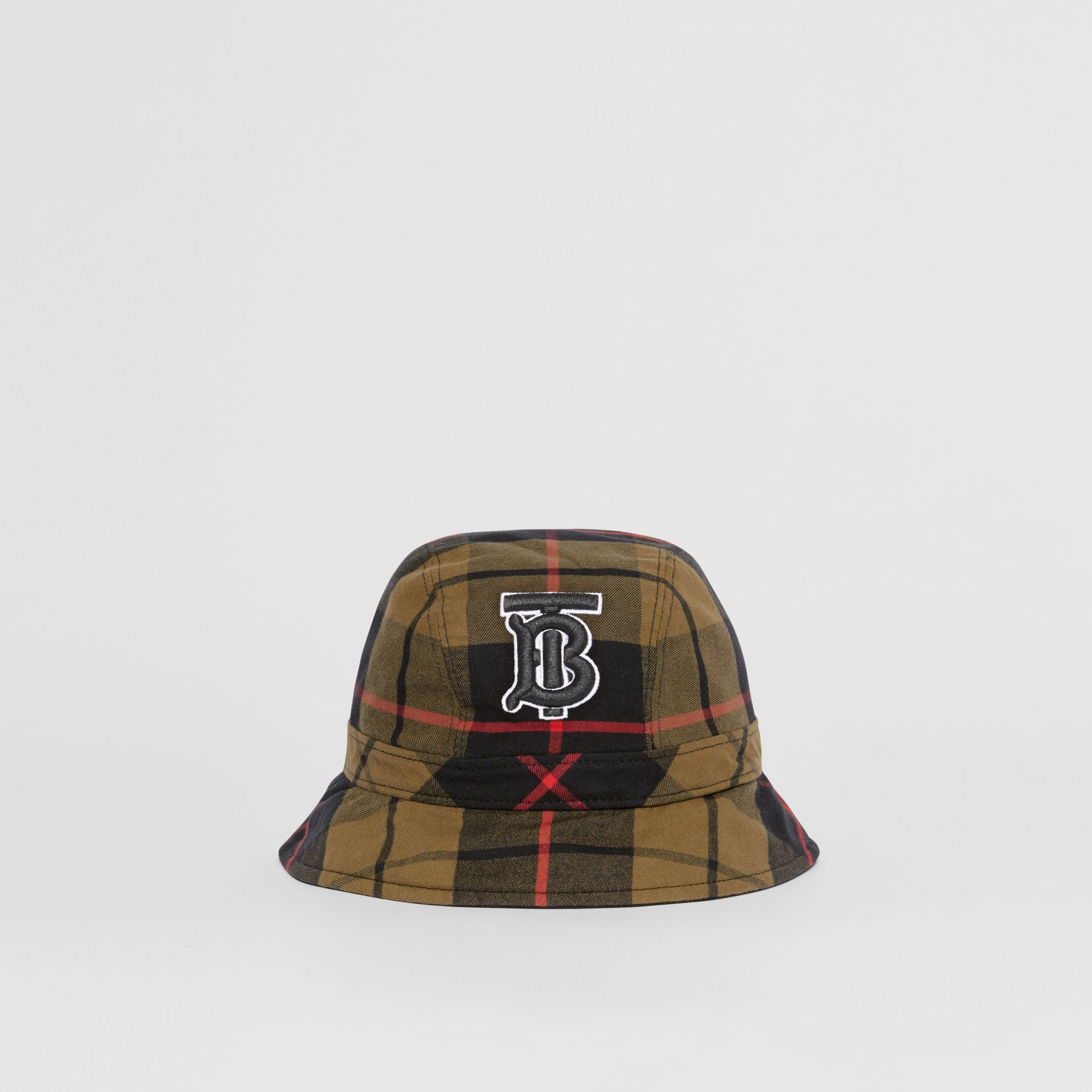 Reversible Monogram Motif Bucket Hat in Military Olive | Burberry Singapore - gallery image 4