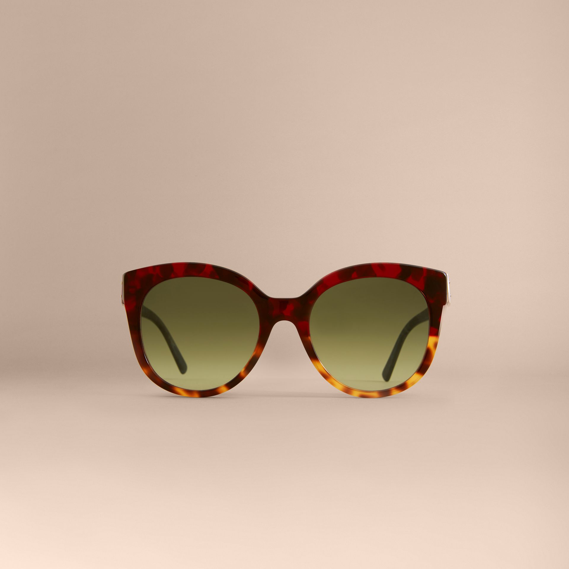 Buckle Detail Cat-eye Frame Sunglasses in Amber Yellow - Women | Burberry - gallery image 3