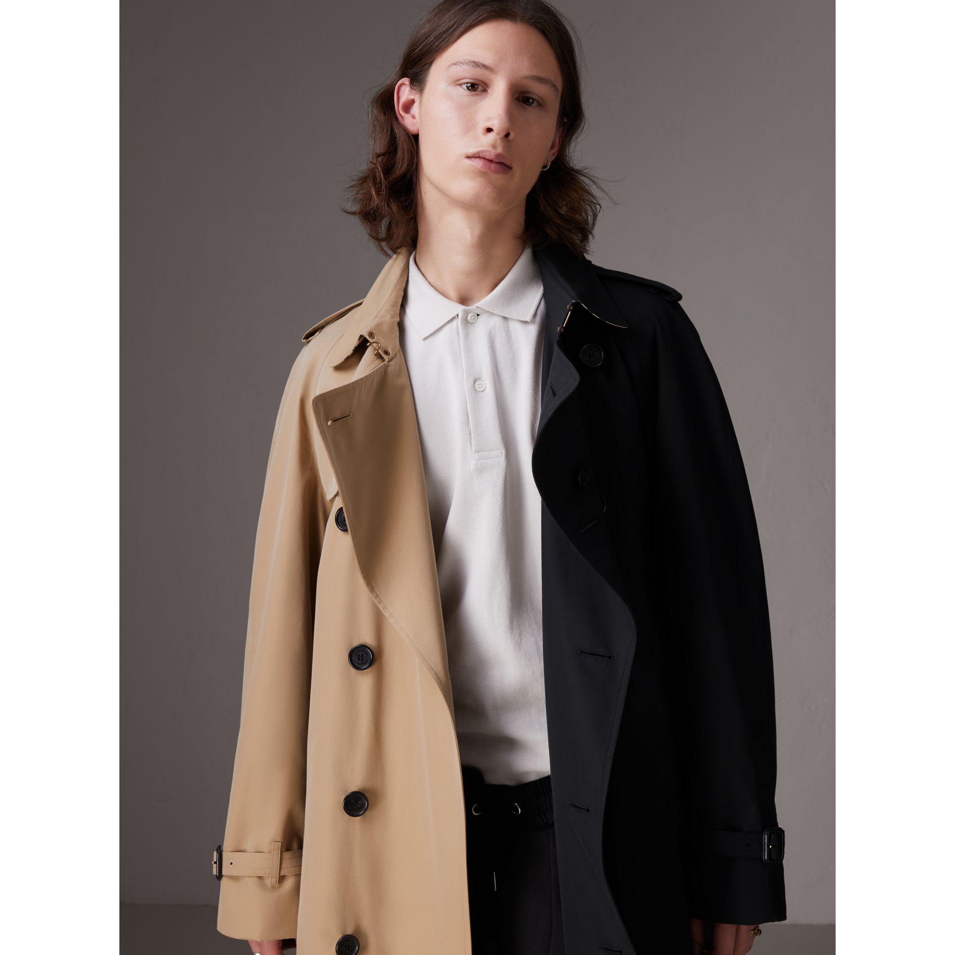 Gosha x Burberry Two-tone Trench Coat in Honey - Men | Burberry United States - gallery image 7