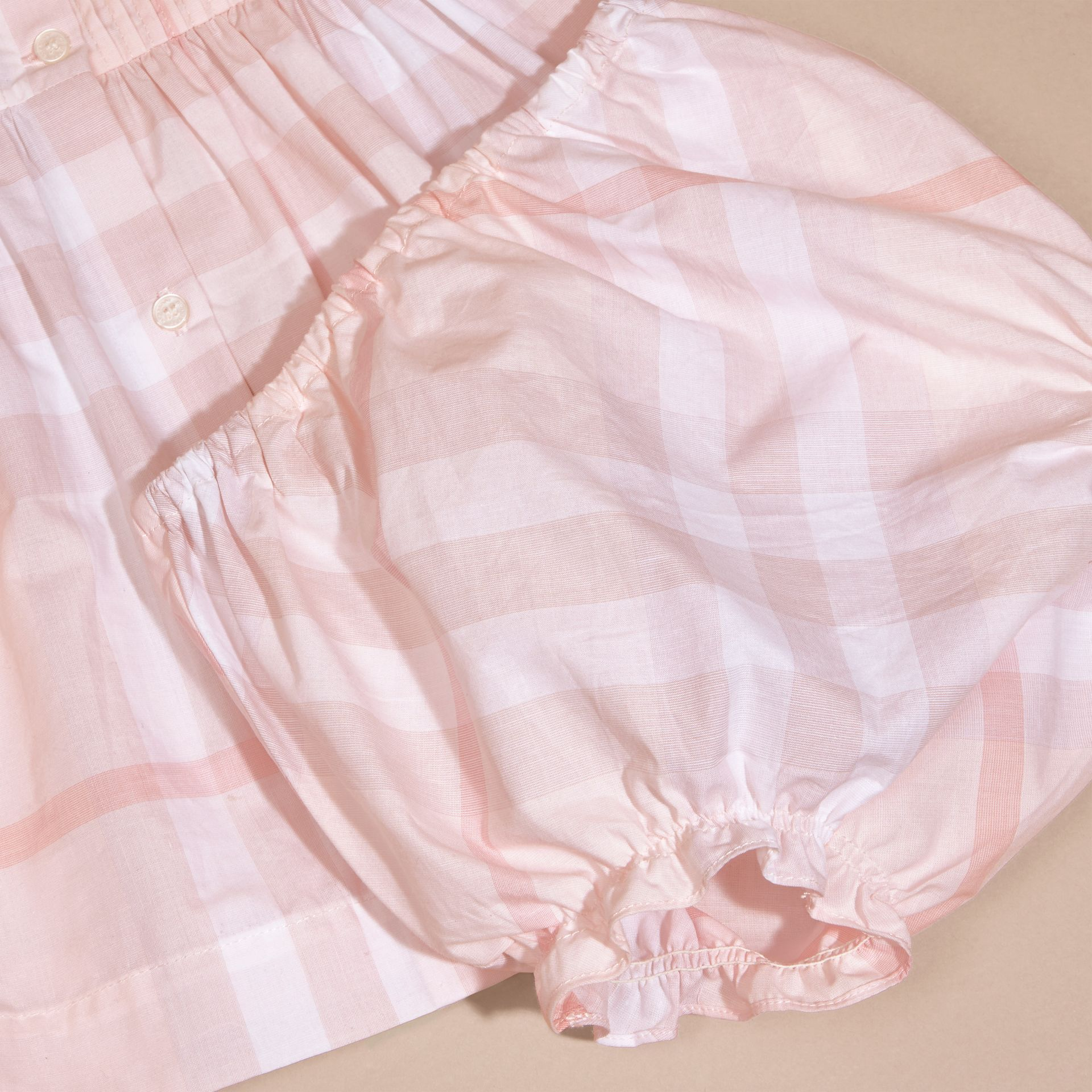 Ice pink Check Cotton Pin Pleat Dress and Bloomers - gallery image 6