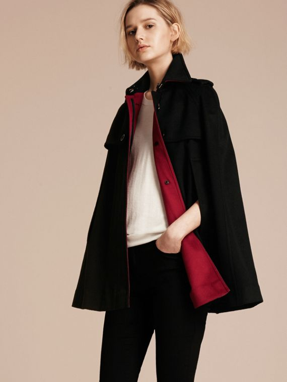 Cashmere Military Cape Coat