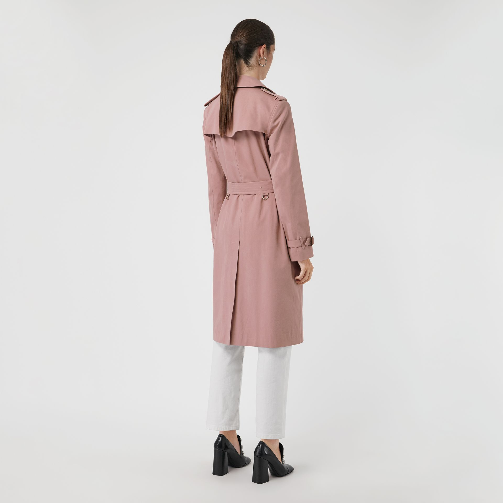 Tropical Gabardine Trench Coat in Chalk Pink - Women | Burberry - gallery image 2