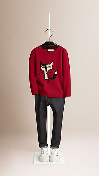 Fox Graphic Cashmere Sweater
