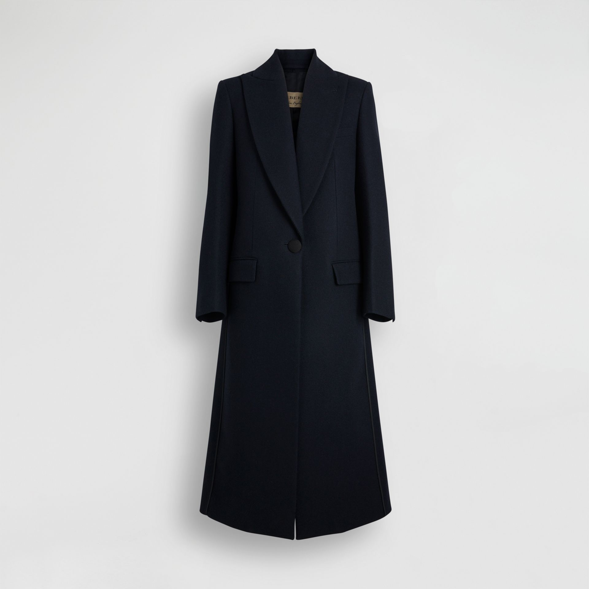 Cashmere Tailored Coat in Navy - Women | Burberry Canada - gallery image 3
