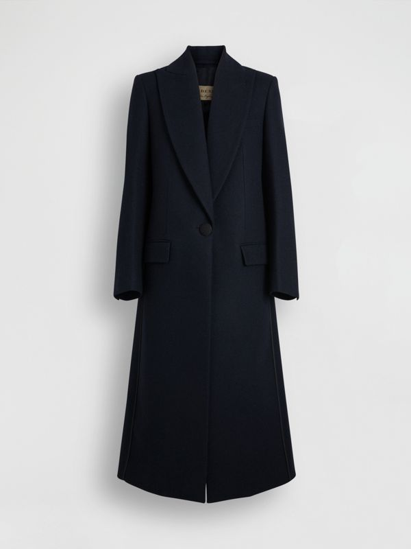 Cashmere Tailored Coat in Navy - Women | Burberry Singapore - cell image 3