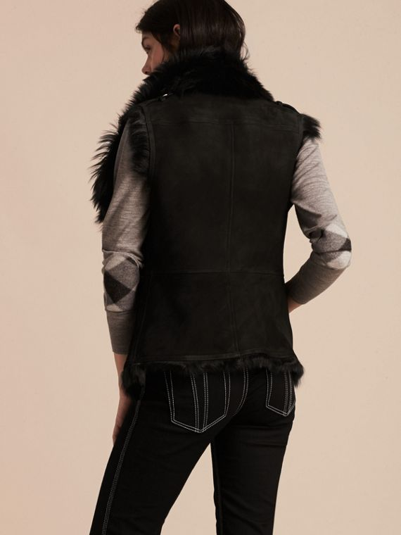 Black Shearling Gilet Black - cell image 2
