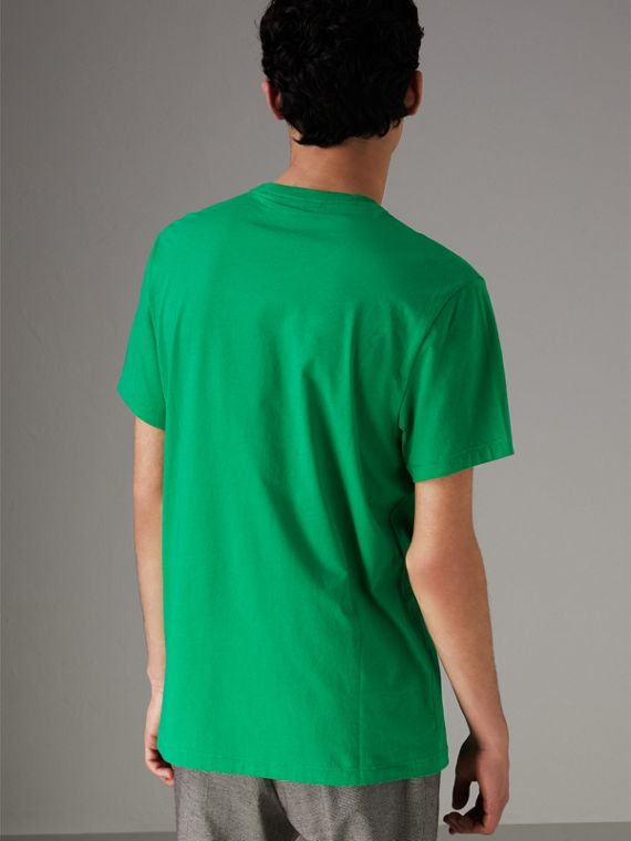 Cotton Jersey T-shirt in Bright Green - Men | Burberry - cell image 2