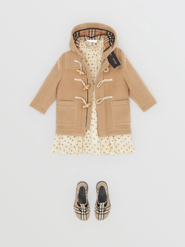 Boiled Wool Duffle Coat in Archive Beige - Children | Burberry - cell image 2