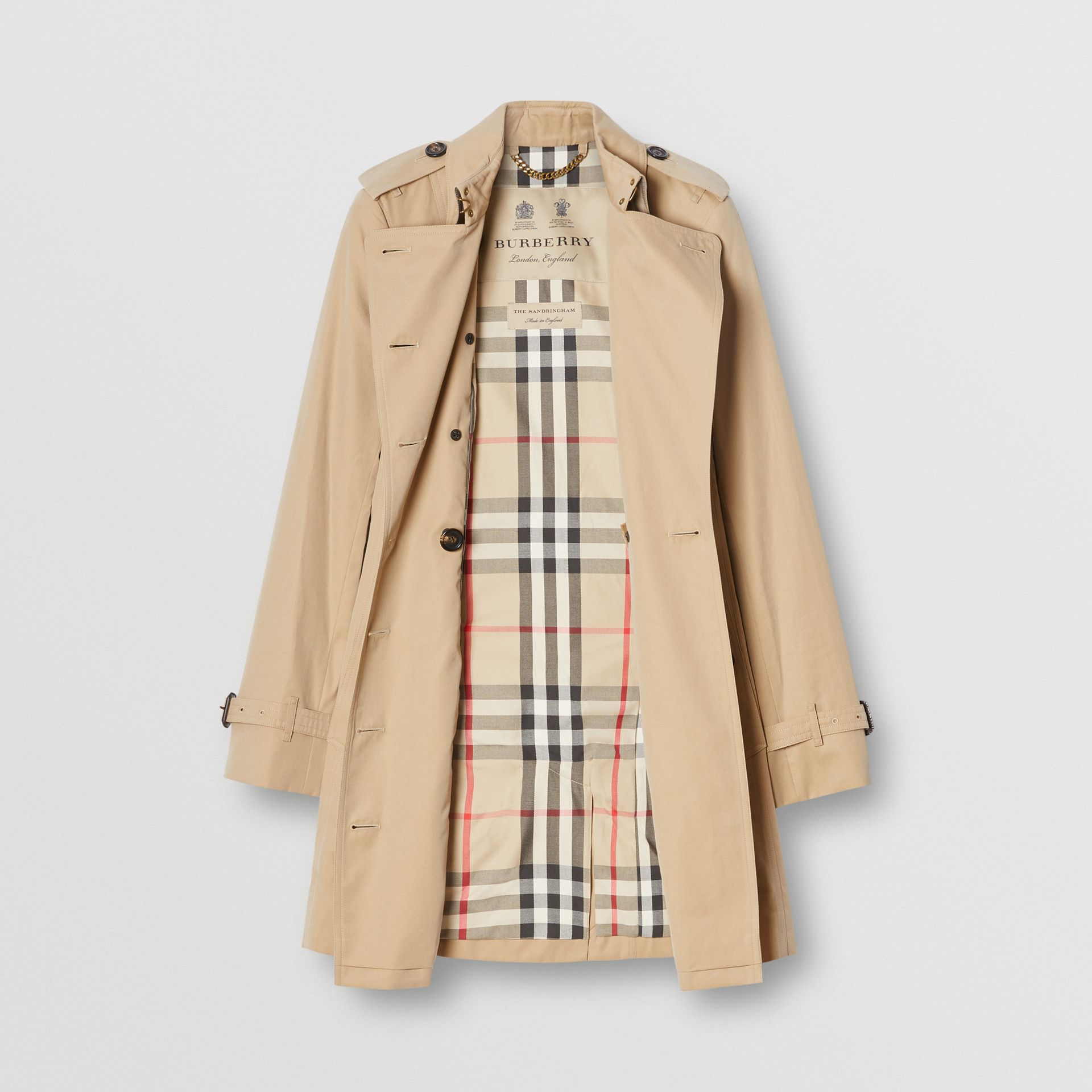 The Sandringham – Mid-length Trench Coat in Honey - Women | Burberry Australia - gallery image 8