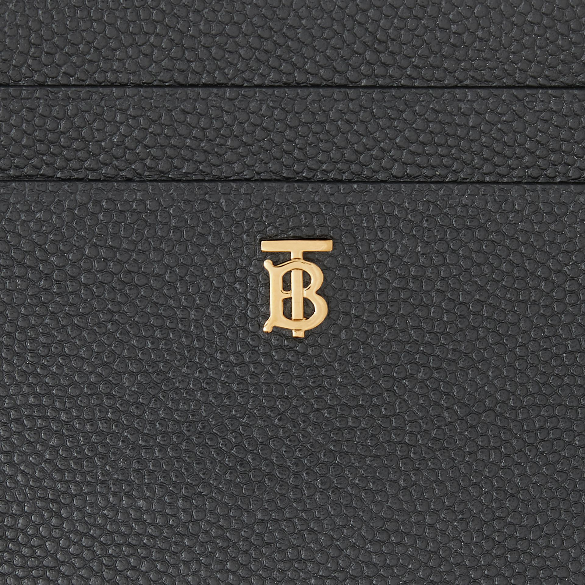 Monogram Motif Leather Card Case in Black - Women | Burberry - gallery image 1