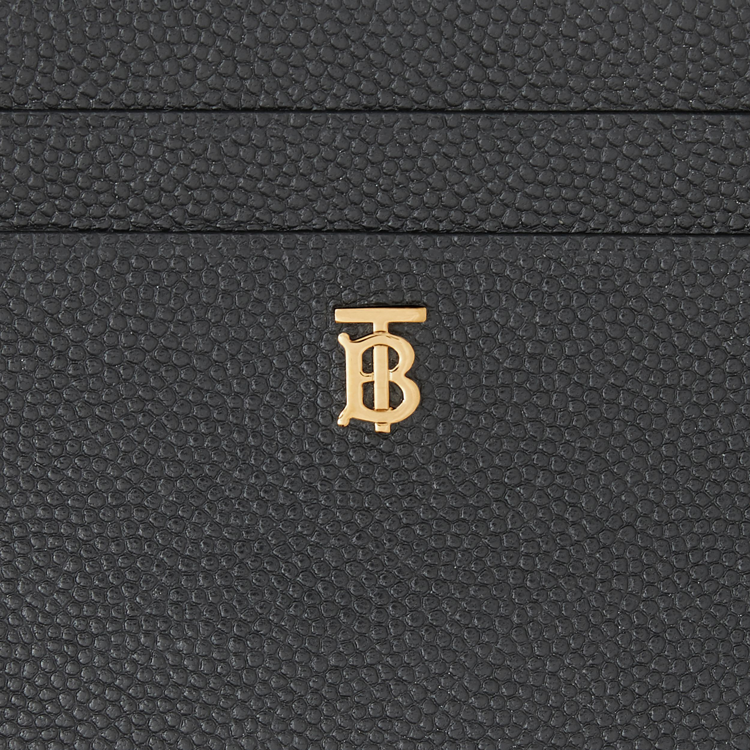 Monogram Motif Leather Card Case in Black - Women | Burberry - 2